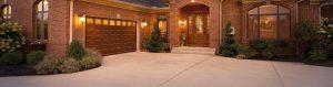 fascinating-yellow-dim-lighting-fixture-illuminate-gorgeous-garage-with-decorative-wooden-clopay-garage-door-configurator